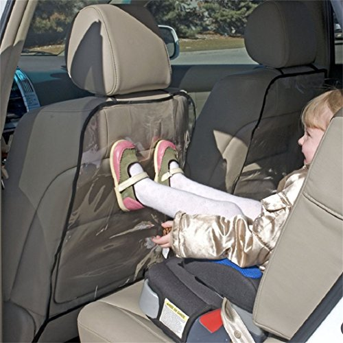 Chianrliu 2pc SièGe Auto Voiture De Couverture De Protection Pour Les Enfants Botter Boue Mat Propre (Noir)