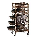 Trolleys Schönheits-Salon-Werkzeug-Wagen-Friseursalon-Färbungs-Trolley-Friseursalon-Retro- Multifunktionsregal