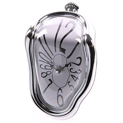 PUCKATOR CLCK14–Reloj derretido de plástico–Color plateado