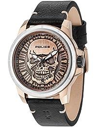Police Reloj Análogo clásico para Hombre de Cuarzo con Correa en Cuero ...