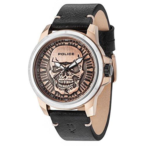 dc72ed4a729b Police Reloj Análogo clásico para Hombre de Cuarzo con Correa en Cuero  14385JSTR 62