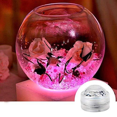 10pcs Unterwasser-LED-Lichter Wasserdichte Unterwasserlichter SMD 3528 RGB Stimmungs-Lichter für Vase, Schüsseln, Aquarium und Parteidekoration IR-Fernsteuerungs - 5