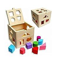 ULTNICE Kinder Bildungs-Spielzeug aus Holz Baustein Kleinkind Spielzeug Baby weiche Blöcke