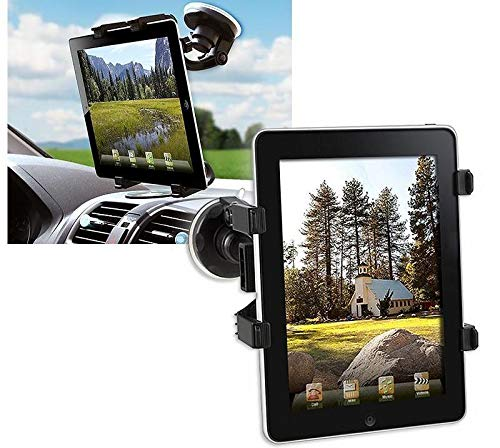 supporto tablet auto cruscotto Techly Supporto Universale da Auto con Ventosa per Tablet 7-10.1""