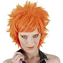 Funny Costumes - Peluca Crazy, adulto, color neón naranja, talla única (Rubies