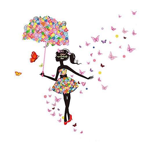 La flor mariposa DealMux paraguas chica extraíble