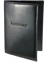 Star Leather Genuine Leather Passport Wallet / Passport Cover / Passport Case / Leather Passport Cover / Black...