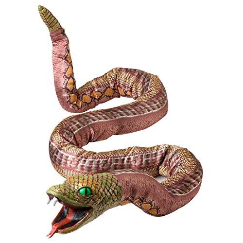 Formbare Deko Schlange Horror Python 180 cm Grusel Riesenschlange Giftschlange Schocker Dschungel Monster Figur Halloween Tier Dekoration