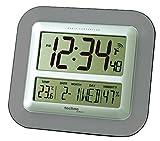 Technoline WS8006 Horloge Murale Radio- Pilotée Calendrier affichage de la température (Anthracite)