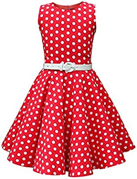 BlackButterfly Bambini Abito Vintage a Pois Anni '50