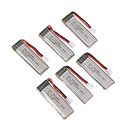 HotFun 6pieces 3.7V 500mAh batteries for JJRC H37 Drone RC Quadcopter spare parts accessories