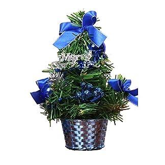 RENNICOCO-Kleiner-Weihnachtsbaum-20cm-Mini-Desktop-Dekoration-Baum-fr-Home-Office-Shopping-Bar