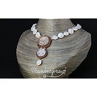 Girocollo di perle con 2 cameiBr