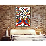 Tamatina Gond Canvas Paintings - Birds In A Forest - Tribal Painting - Traditional Gond Paintings - Rajasthani Paintings - Paintings For Bed Room - Gond Paintingsfor Living Room - Paintings For Wall