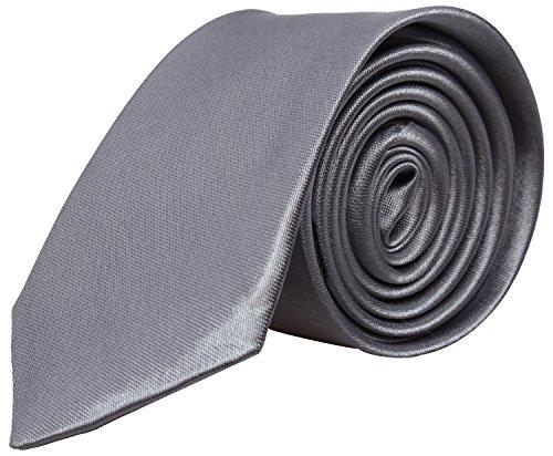 Alex Flittner Designs Cravate Slim Hommes/Femmes 5cm - Cravates mince faite à la main pour costume mariage chemises soirée élegante - cravatte noir bl
