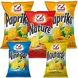 Zweifel Mix Pack Chips 5er Packung - Nature, Paprika, Salt & Vinegar, Moutarde(Senf) - 4 verschiedene Geschmackssorten, 705 g