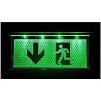 Luz de emergencia alumbrado de salir de emergencia escape de ruta luz de emergencia salida con flecha hacia abajo