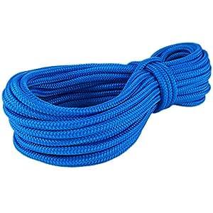 Corde Cordage PP 16mm 10m Bleu (0912) Tressé Polypropylène