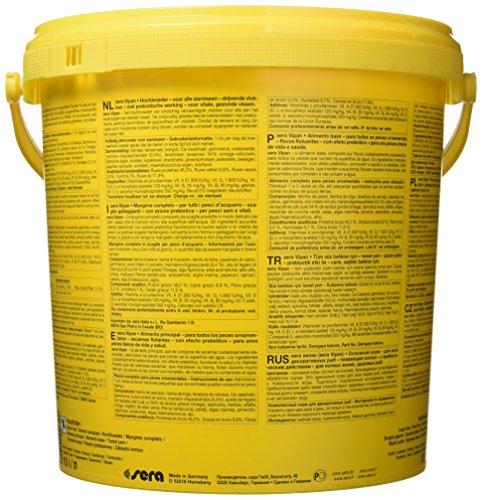 sera 00190 vipan (2 kg) 10 l der Klassiker Hauptfutter für alle Zierfische im Aquarium, Flockenfutter mit Präbiotika verbessert die Futterverwertung, damit geringere Wasserbelastung & so weniger Algen - 4