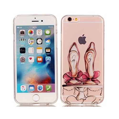 iPhone 6S Custodia Case, Silicone molle TPU iPhone 6s / 6 copertura Cover, Cartoon Modelli di personalità // farfalla // ShockProof Ultra Slim & Pesare leggero # 4