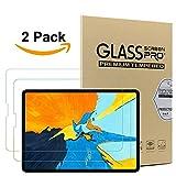 Apple iPad Pro 11-Zoll-Displayschutzfolie,Msm-case [2 Stück] Ausgeglichenes Glas-Displayschutzfolie für iPad Pro 11 - [Vollkleber] [Vollbild-Abdeckung] Bubble Free Easy-Install