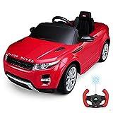 Kinder Elektroauto,Musik Licht Ferngesteuerter/Sitzen Kleinkind Car Land Rover/Kinderwagen,Red