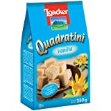 Loacker Quadratini Vanilla - Bite Size Wafer Cookies - 250 gms - 100% Veg