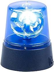 Lunartec Blaulicht mit Batterie: LED-Partyleuchte im Blaulichtdesign, 360°-Beleuchtung, Batteriebetrieb (Rundumleuchte)