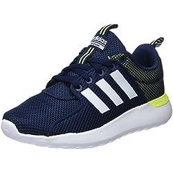 Adidas Cf Lite Racer, Scarpe Running Uomo, Blu (Collegiate Navy/Footwear White/Solar Yellow), 39 1/3 EU