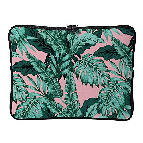 Tropical Leaves 10 Inch Protective Laptop Sleeve Ultrabook Notebook Carrying Case Compatible with MacBook Pro MacBook Air Tablet Briefcase Bag -