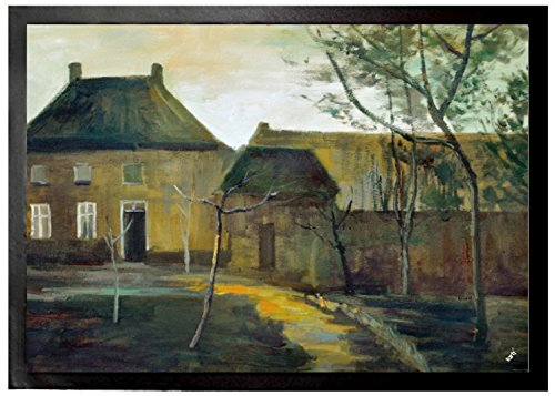 Vincent Van Gogh - The Parsonage At Nuenen By Moonlight, 1885 Felpudo Alfombrilla (70 x 50cm)