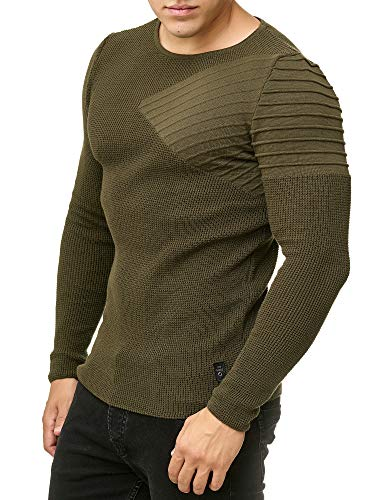Red Bridge Herren Strickpullover Arrow Shoulder Pullover Khaki XL - Arrow Khaki