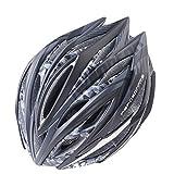 210g Peso ligero ultra - Ciclo de ciclismo de carretera Bicicleta MTB motocicleta de bicicleta de casco de seguridad para hombres y mujeres adultos, Juventud - carreras, la protección de la seguridad ( Color : Matte black , Size : M )