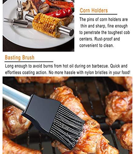 51i9situa0L - grilljoy 20pcs BBQ-Grill-Werkzeug-Satz, Edelstahl-Zusätze im Aluminiumspeicher-Kasten, schließen Grillen-Grill-Geräte im Freien, Präfekt-Geburtstags-Geschenk für Männer