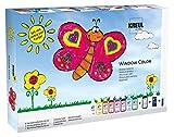 KREUL 42752 - Glas Design Fenstermalfarben Set mit extra viel Farbe