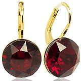 Ohrringe mit Kristallen von Swarovski® Rot Gold NOBEL SCHMUCK