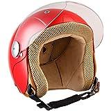 SOXON SK-55 Kids Red · Biker Mofa Chopper Helmet Casque Jet pour Enfant Vespa Pilot Demi-Jet Kids Scooter Retro Moto Vintage Bobber Cruiser · ECE certifiés · visière inclus · y compris le sac de casque · Rouge · XS (51-52cm)