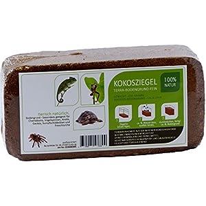 Kokosfaser Bodengrund Terrarium - 8 Liter Humusziegel standard