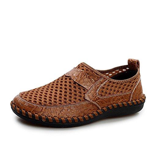 Oxford Flats en cuir décontractée Mode homme Mocassins en cuir pour homme,gris,7,6569_6569