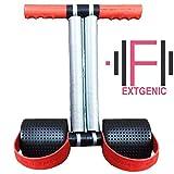 EXTGENIC (TM) Red Double Spring Tummy Trimmer Ab Exerciser Multipurpose Fitness Equipment