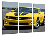 Wandbild - Bild Auto Sport, Chevrolet Camaro, 97x 62 cm, Holzdruck - XXL Format - Kunstdruck, 26364
