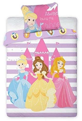 2 tlg Kinderbettwäsche 100x135 40x60 Disney 897 Princess (Disney Baby Princess)