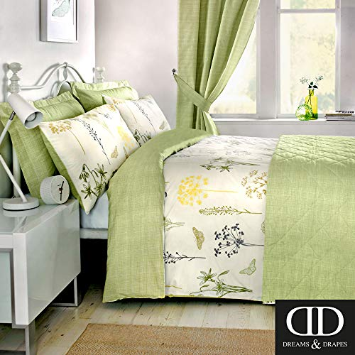 tanique-grüner Bettbezug mit 1Kissenbezug, grün, Doppelbett ()