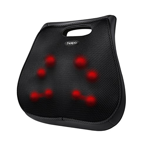 Preisvergleich Produktbild Naipo acht Massageköpfe Akupressur Shiatsu Massagekissen für Rücken Nacken Schulter mit Wärmefunktion für Haus Büro Auto