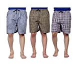 #9: Boxer Men's Sports Cotton Shorts Pack of 3 (Small, Multicolour)