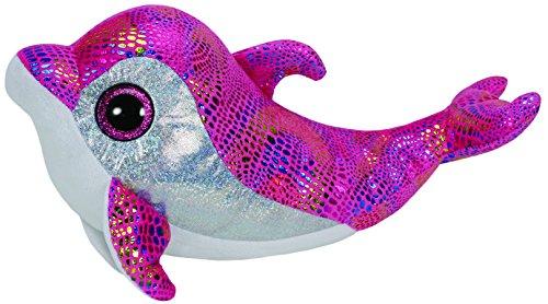 TY 36814 - Sparkles - Delfin mit Glitzeraugen, Plüschtier, XL, 42 cm, pink