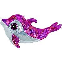 Ty Sparkles, peluche delfín, 23 cm, color rosa (37011TY)