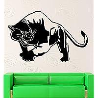 GGWW Tiger Panther Wall Stickers Predator Animal Tribal Decor Vinyl Decal (Ig2361)