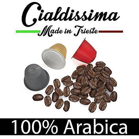 cialdissima 100 Kapseln Nespresso Kompatibel 100% Arabica, Espresso Italiano - DREI Mischungen, MISCHPAKET, Arabicus -
