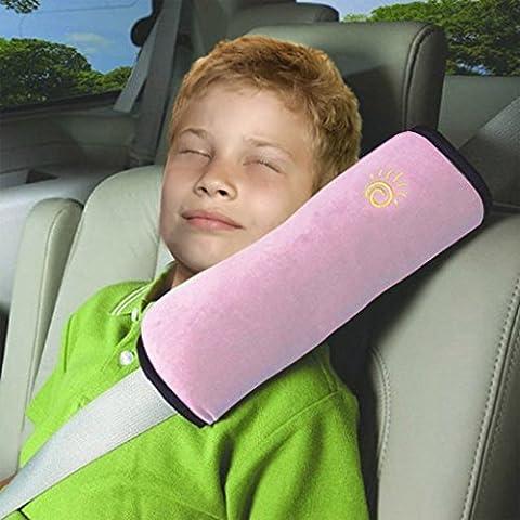 Vine Seguridad infantil cinturon Asiento de coche cinturón hombro cojín reposacabezas almohada para dormir para niños almohada
